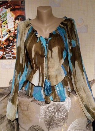 Цветная блуза в восточном стиле