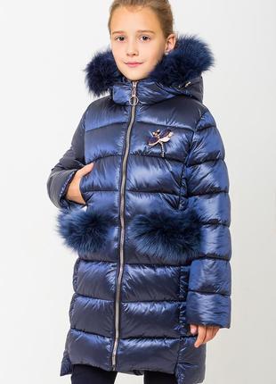 Зимняя куртка сабрина синяя