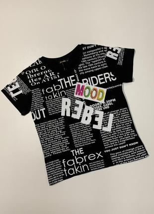 Черная футболка yesmina для девочки подростка 8-14 лет.