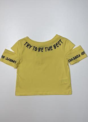Ярко-желтый кроп топ blueland для девочки 7-14 лет