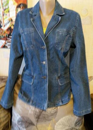 Базовая джинсовая куртка пиджак barton