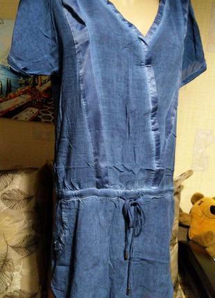Вискозное легкое платье-туника для моря exept
