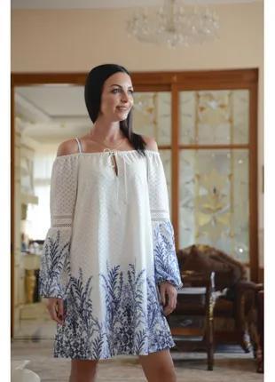 Белое платье Guess с принтом