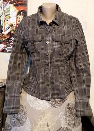 Куртка весенняя в клетку , плотный коттон по типу джинса от st...