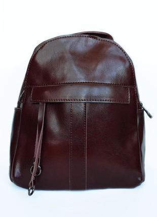 """Женский кожаный рюкзак """"maple"""" коричневый"""
