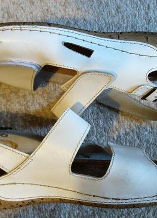 Мега комфортные кожаные босоножки с ортопедической стелькой