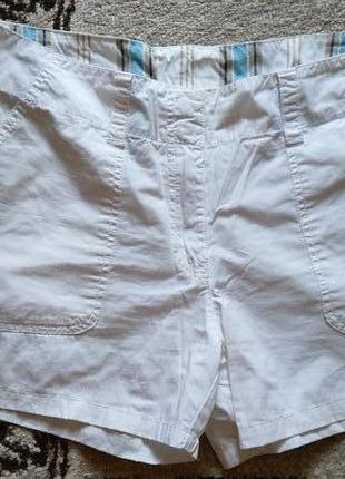 Белые натуральные шорты
