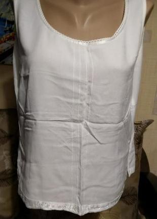 Летняя тонкая майка топ блуза большой размер