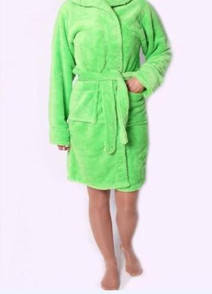 Женский махровый халат, пр-во турция, в наличии расцветки и ра...