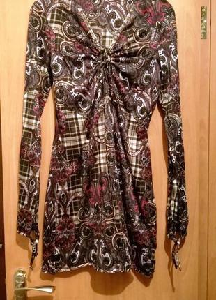 Туника-платье с длинным рукавом