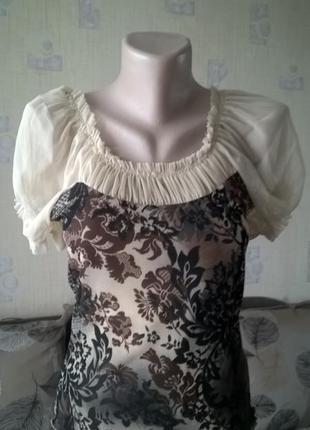 Блуза с красивым декольте с/л