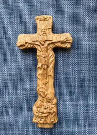 """Крест """"Святое семейство"""" из дуба"""