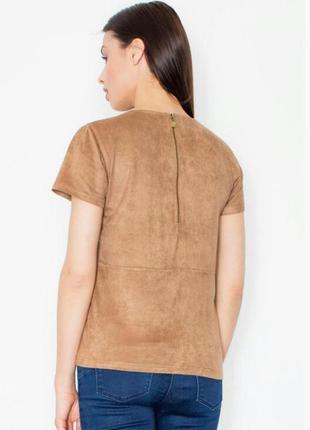 Блуза/топ имитация замши красивого писочного цвета от atmosphe...