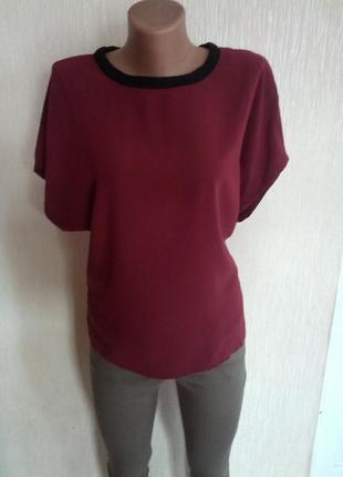 Бордовая блуза от mango 36