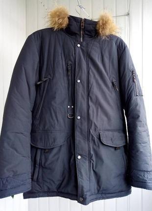 Теплая зимняя куртка парка 58 размер