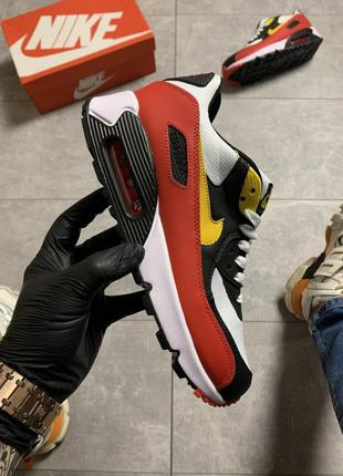 🔥 nike air max 90 red yellow swosh