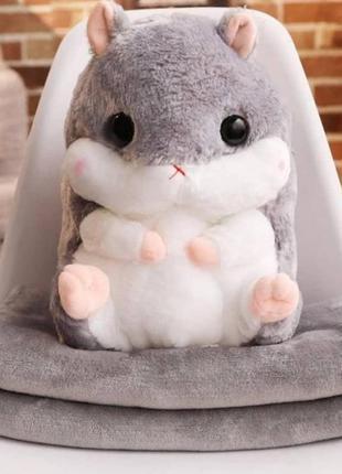 Хомяк. игрушка с детским пледом