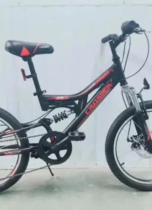 Двухколесный велосипед 20 дюймов Crosser Smart черно-красный
