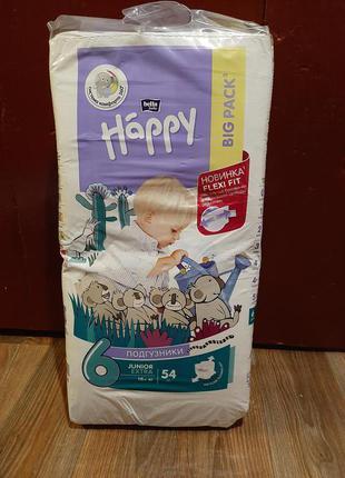 Подгузники памперсы happy bella 6 размер 54 шт
