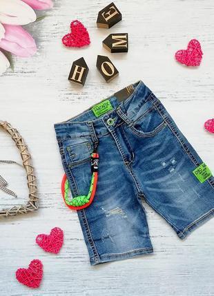 Модные джинсовые шорты мальчику