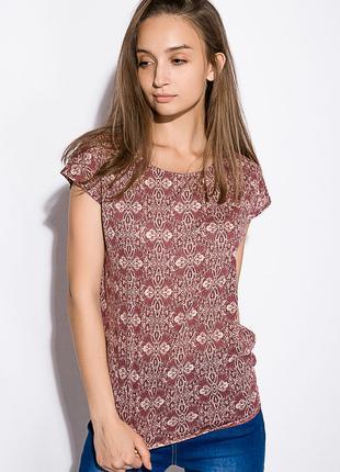 Блуза женская  цвет Бордово-молочный