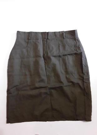 Фирменная полульняная юбка на подкладке