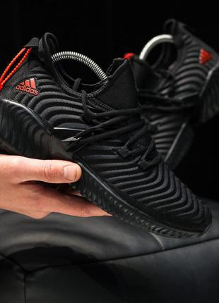 Adidas alphabounce full black red