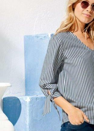 Блуза в полоску 44 xxl 2xl esmara германия