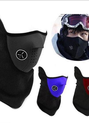 Лыжная лицевая маска, подшлемник, бафф, балаклава