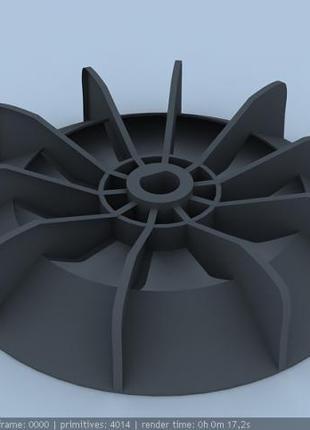 Вентилятор обдува двигателя от компрессора METABO