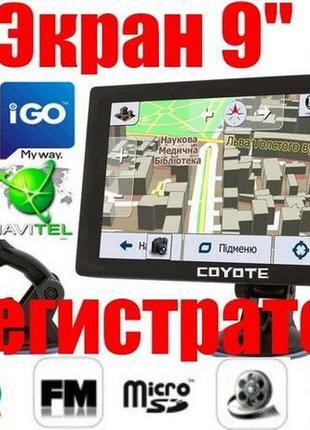 Gps навигатор видеорегистратор Coyote 1090 DVR PRO 9 дюймов EUTIR