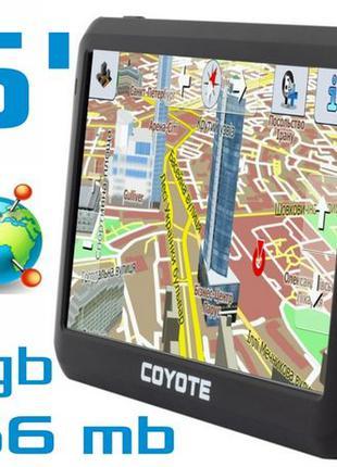 GPS навигатор COYOTE 556 MATE PRO 5 дюймов RAM 256 mb ROM 8Gb TIR
