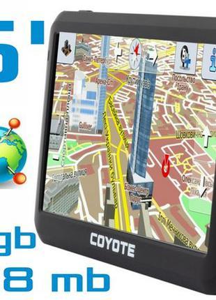 GPS навигатор COYOTE 528 MATE 5 дюймов RAM 128mb ROM 4Gb + карты