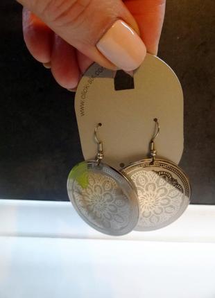 Серьги новые из византийской коллекции цвет серебро