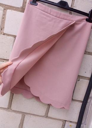 Крутая пудровая юбка на запах от asos раз. l