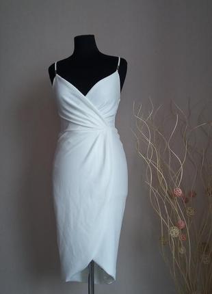 Белое, вечернее платье