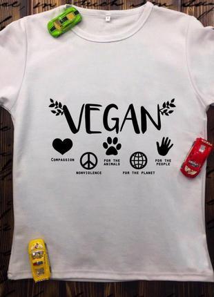 Мужские футболки с принтом -веган