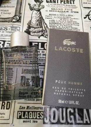 Lacoste pour homme  мужская туалетная вода   50мл