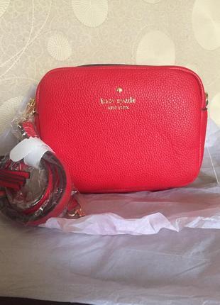 Акция на все товары! цена снижена ! красная сумка kate spade