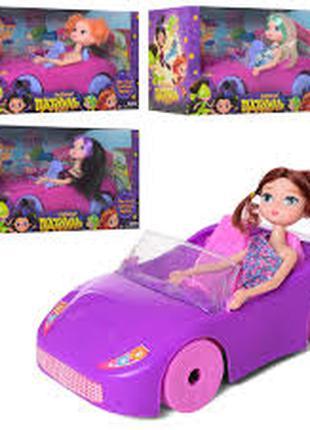 Кукла DS-010B, 30см, машинка 30см, 4вида