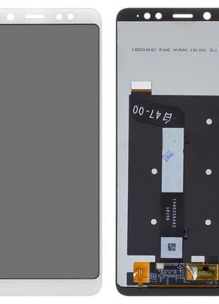 Дисплей модуль для Xiaomi Redmi Note 5, Note Pro белый оригинал
