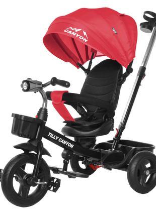 Детский трехколесный велосипед Canyon T-384 красный