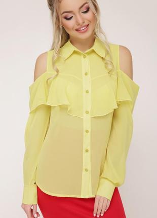 """Блуза """"джанина"""" желтый"""
