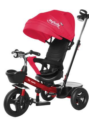Детский трехколесный велосипед-коляска Melody T-385 красный