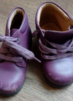 Детские кожанные демисезонные ботинки