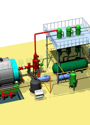 Продам пиролизную установку БКР-003-02 по утилизации РТИ