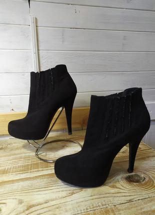 Классные ботиночки из зкозамши 37-38 р
