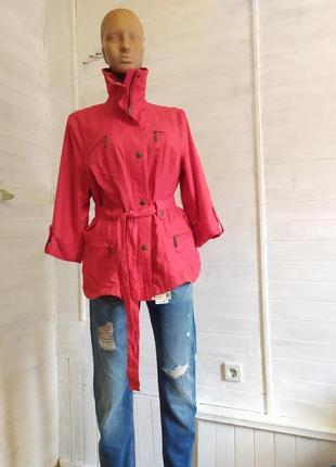 Классная легкая льняная весенняя курточка l-xxl