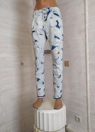 Отпадные джинсы бойфренды m-l
