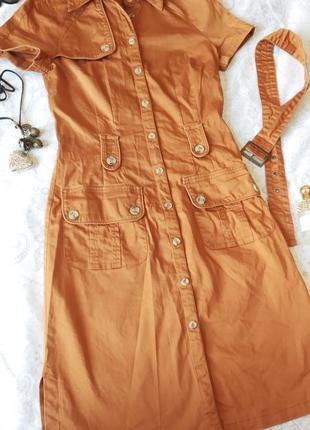 Модное летнее платье в рубашечном стиле